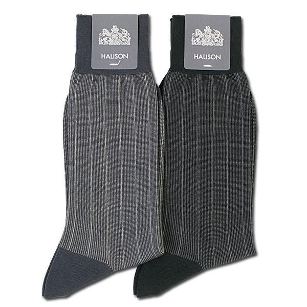 HALISON ハリソン 靴下 ソックス チョークストライプ柄|london-game