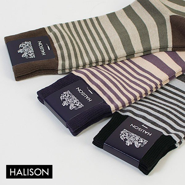 HALISON ハリソン 靴下 ソックス コンビボーダー|london-game|05