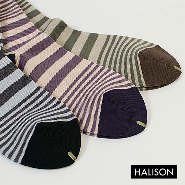 HALISON ハリソン 靴下 ソックス コンビボーダー|london-game|06
