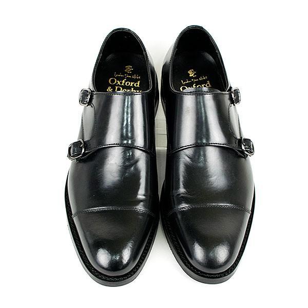 ダブルモンクストラップ 革靴 DOUBLE MONK STRAP LEATHER SHOE グッドイヤーウェルト製法 BLACK|london-game|03