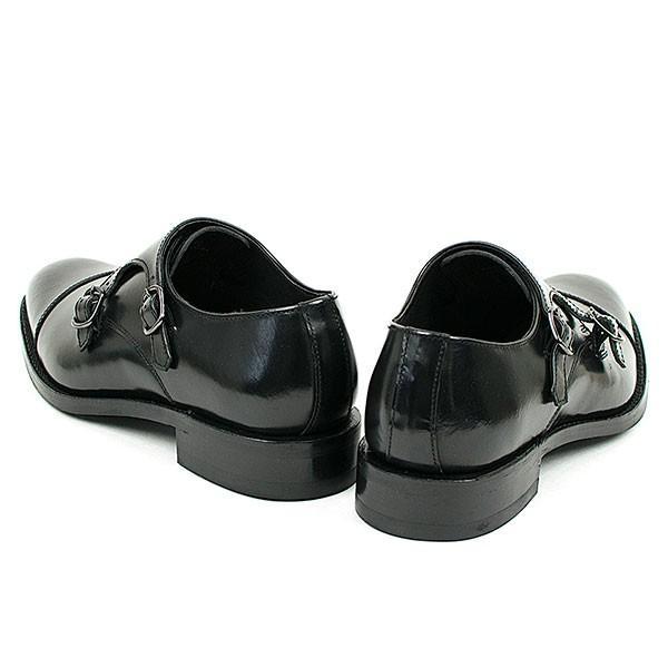 ダブルモンクストラップ 革靴 DOUBLE MONK STRAP LEATHER SHOE グッドイヤーウェルト製法 BLACK|london-game|04