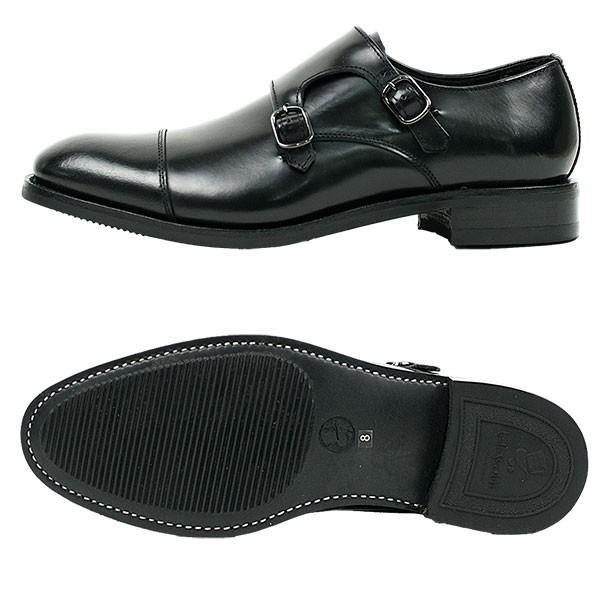 ダブルモンクストラップ 革靴 DOUBLE MONK STRAP LEATHER SHOE グッドイヤーウェルト製法 BLACK|london-game|05