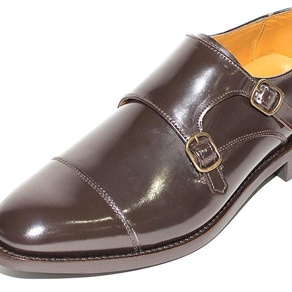 ダブルモンクストラップ 革靴 DOUBLE MONK STRAP LEATHER SHOE グッドイヤーウェルト製法 D.BROWN london-game 02