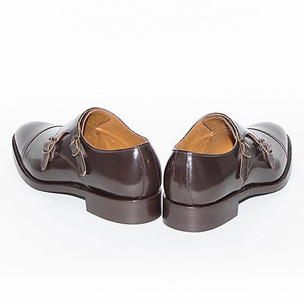 ダブルモンクストラップ 革靴 DOUBLE MONK STRAP LEATHER SHOE グッドイヤーウェルト製法 D.BROWN london-game 04