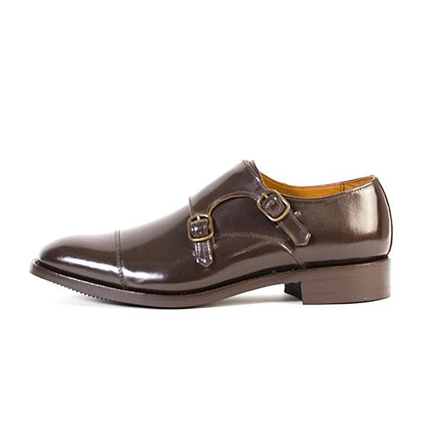 ダブルモンクストラップ 革靴 DOUBLE MONK STRAP LEATHER SHOE グッドイヤーウェルト製法 D.BROWN london-game 05