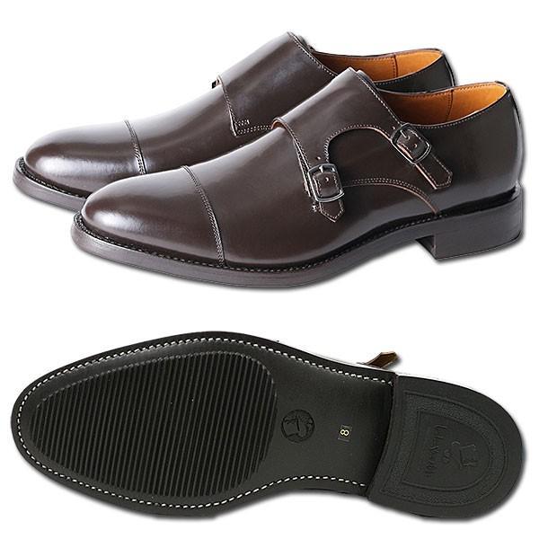 ダブルモンクストラップ 革靴 DOUBLE MONK STRAP LEATHER SHOE グッドイヤーウェルト製法 D.BROWN london-game 06