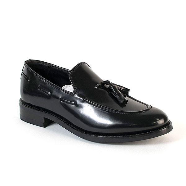 タッセルローファー 革靴 TASSEL LOAFER LEATHER SHOE グッドイヤーウェルト製法 BLACK|london-game|02