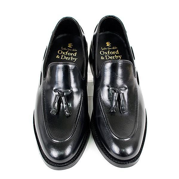 タッセルローファー 革靴 TASSEL LOAFER LEATHER SHOE グッドイヤーウェルト製法 BLACK|london-game|03