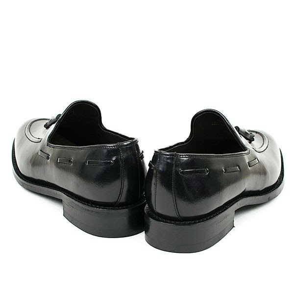 タッセルローファー 革靴 TASSEL LOAFER LEATHER SHOE グッドイヤーウェルト製法 BLACK|london-game|04