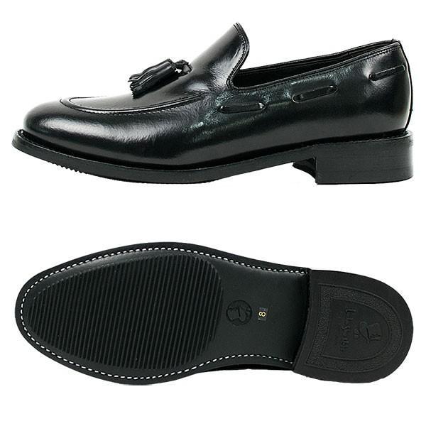 タッセルローファー 革靴 TASSEL LOAFER LEATHER SHOE グッドイヤーウェルト製法 BLACK|london-game|05