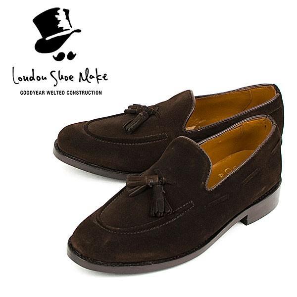 スウェード タッセルローファー 革靴 SUEDE TASSEL LOAFER グッドイヤーウェルト製法 D.BROWN|london-game