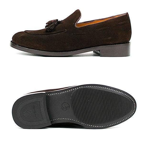 スウェード タッセルローファー 革靴 SUEDE TASSEL LOAFER グッドイヤーウェルト製法 D.BROWN|london-game|03