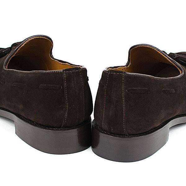 スウェード タッセルローファー 革靴 SUEDE TASSEL LOAFER グッドイヤーウェルト製法 D.BROWN|london-game|04