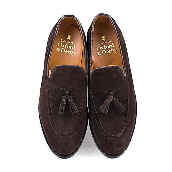 スウェード タッセルローファー 革靴 SUEDE TASSEL LOAFER グッドイヤーウェルト製法 D.BROWN|london-game|05