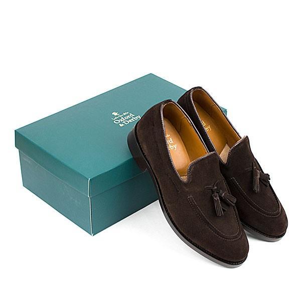 スウェード タッセルローファー 革靴 SUEDE TASSEL LOAFER グッドイヤーウェルト製法 D.BROWN|london-game|06