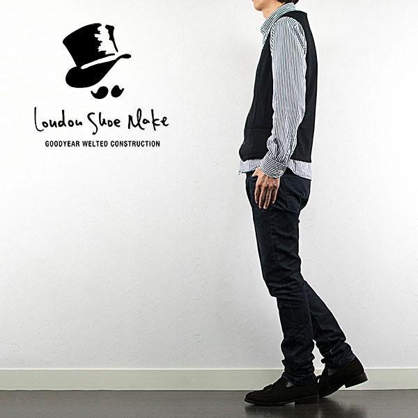 スウェード タッセルローファー 革靴 SUEDE TASSEL LOAFER グッドイヤーウェルト製法 D.BROWN|london-game|07