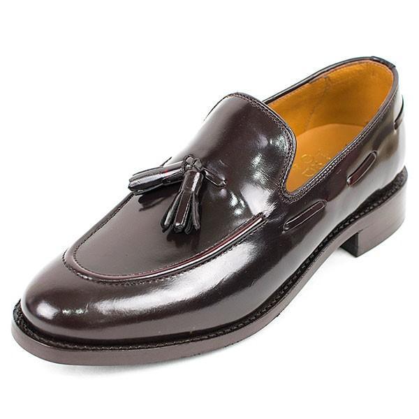 タッセルローファー 革靴 TASSEL LOAFER LEATHER SHOE グッドイヤーウェルト製法 D.BROWN|london-game|02