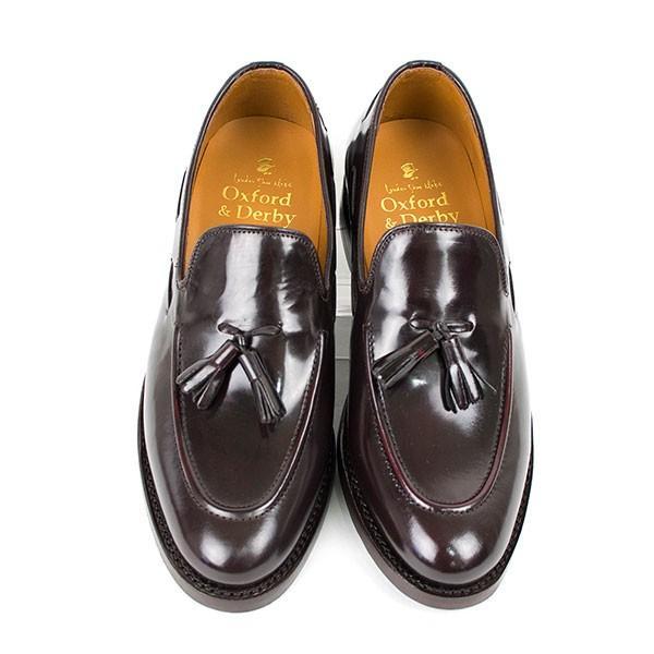 タッセルローファー 革靴 TASSEL LOAFER LEATHER SHOE グッドイヤーウェルト製法 D.BROWN|london-game|03
