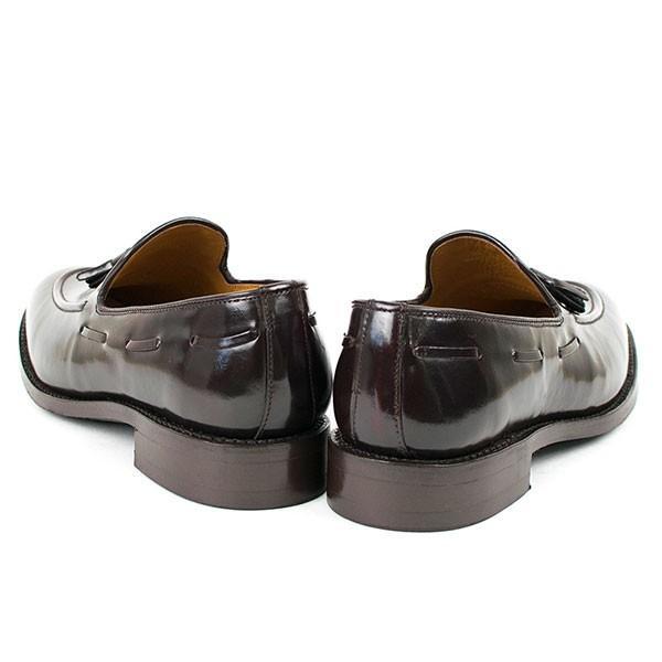 タッセルローファー 革靴 TASSEL LOAFER LEATHER SHOE グッドイヤーウェルト製法 D.BROWN|london-game|04
