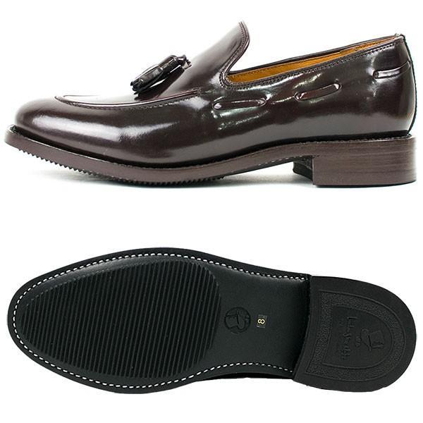 タッセルローファー 革靴 TASSEL LOAFER LEATHER SHOE グッドイヤーウェルト製法 D.BROWN|london-game|05