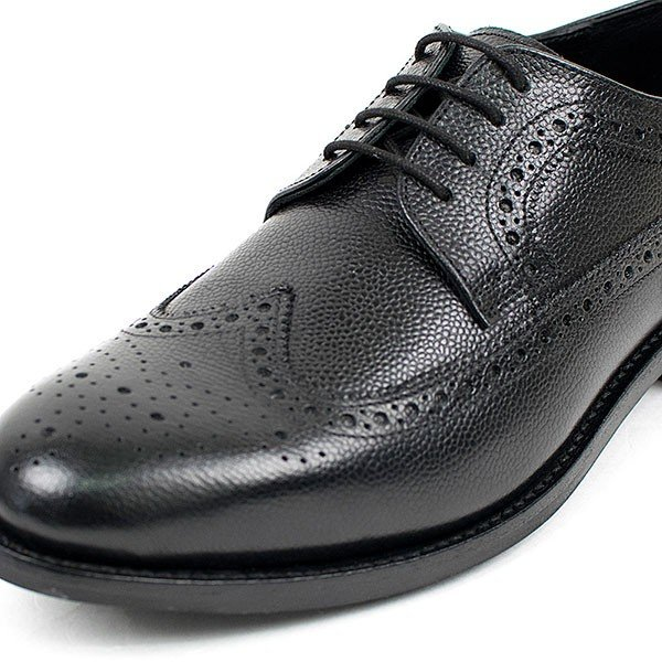 ウィングチップ 革靴 フルブローグ FULL BROGUE LEATHER SHOE グッドイヤーウェルト製法 BLACK london-game 02