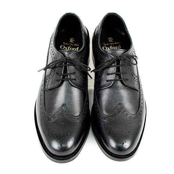 ウィングチップ 革靴 フルブローグ FULL BROGUE LEATHER SHOE グッドイヤーウェルト製法 BLACK london-game 03