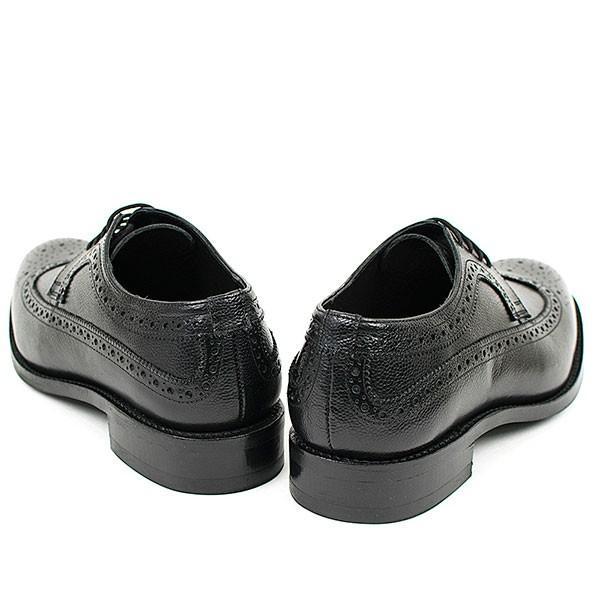 ウィングチップ 革靴 フルブローグ FULL BROGUE LEATHER SHOE グッドイヤーウェルト製法 BLACK london-game 04