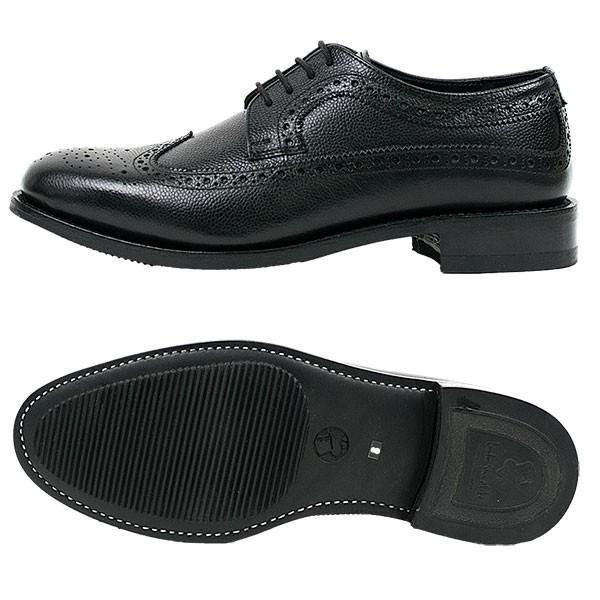 ウィングチップ 革靴 フルブローグ FULL BROGUE LEATHER SHOE グッドイヤーウェルト製法 BLACK london-game 05
