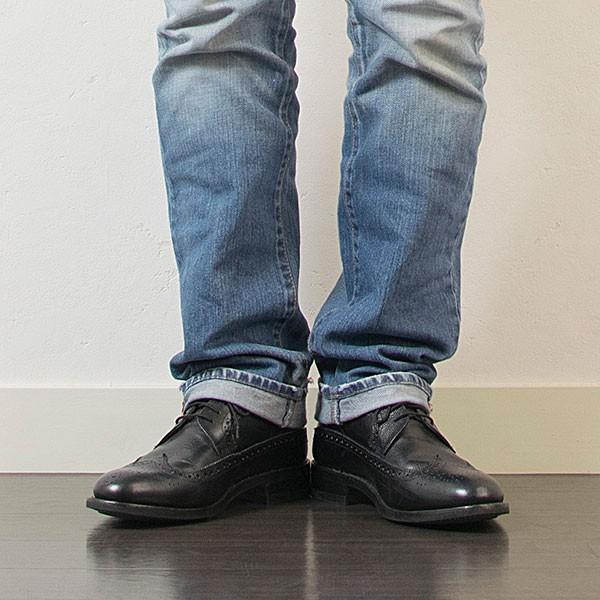 ウィングチップ 革靴 フルブローグ FULL BROGUE LEATHER SHOE グッドイヤーウェルト製法 BLACK london-game 08