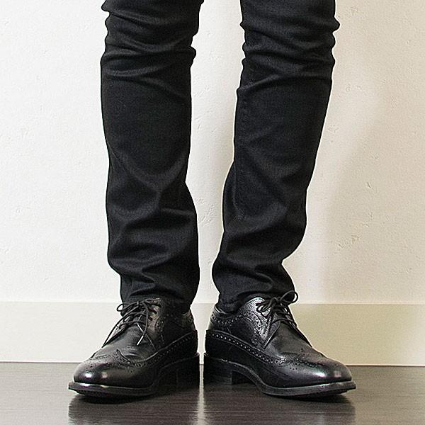 ウィングチップ 革靴 フルブローグ FULL BROGUE LEATHER SHOE グッドイヤーウェルト製法 BLACK london-game 09