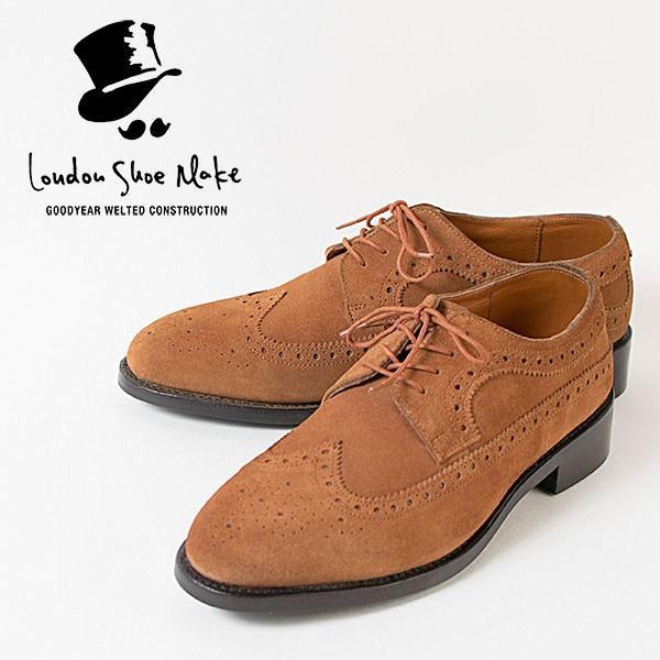 ウィングチップ 革靴 フルブローグ FULL BROGUE LEATHER SHOE グッドイヤーウェルト製法 TAN|london-game