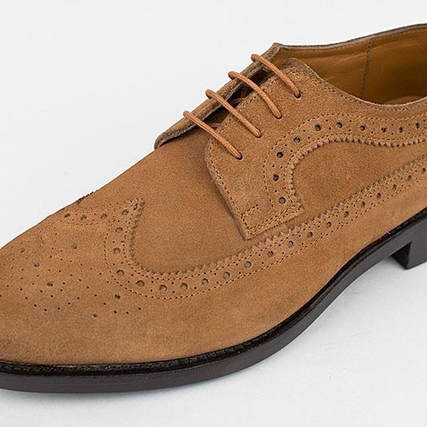 ウィングチップ 革靴 フルブローグ FULL BROGUE LEATHER SHOE グッドイヤーウェルト製法 TAN|london-game|02