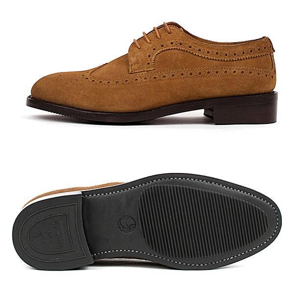 ウィングチップ 革靴 フルブローグ FULL BROGUE LEATHER SHOE グッドイヤーウェルト製法 TAN|london-game|03