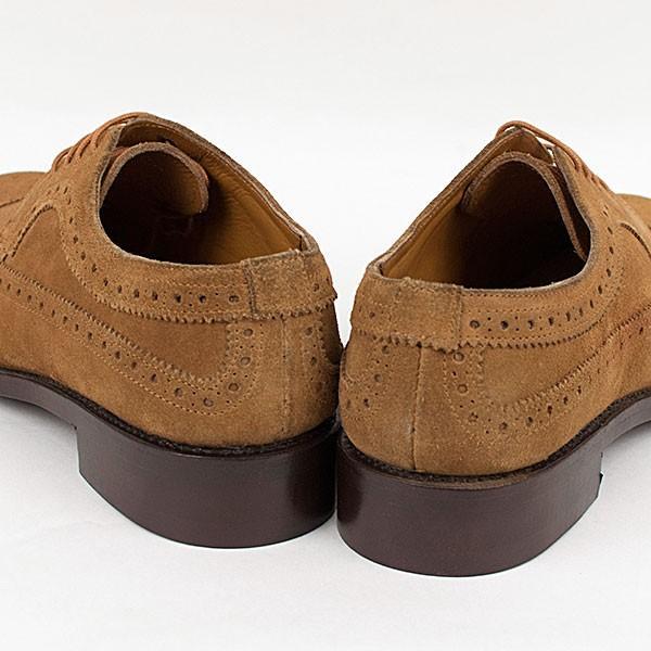 ウィングチップ 革靴 フルブローグ FULL BROGUE LEATHER SHOE グッドイヤーウェルト製法 TAN|london-game|04
