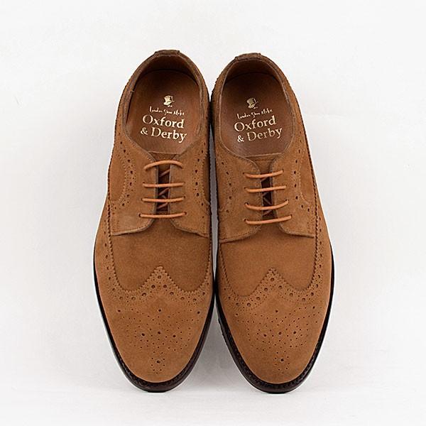 ウィングチップ 革靴 フルブローグ FULL BROGUE LEATHER SHOE グッドイヤーウェルト製法 TAN|london-game|05