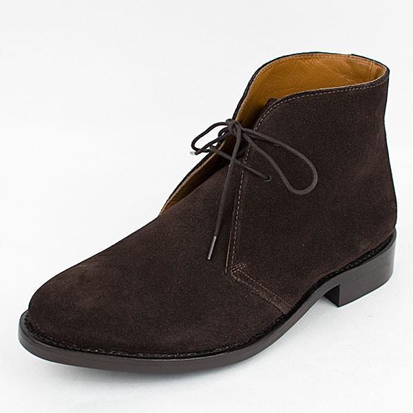 スウェード チャッカブーツ 革靴 SUEDE CHUKKA BOOT LEATHER グッドイヤーウェルト製法 D.BROWN|london-game|02