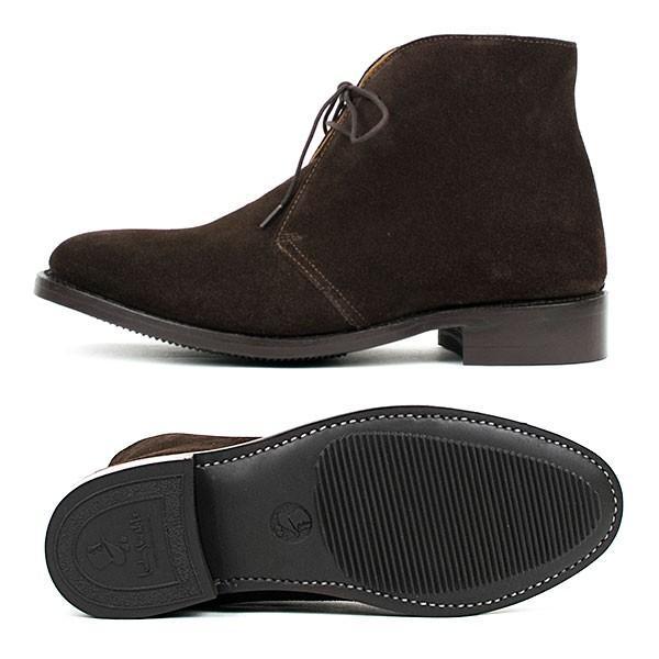 スウェード チャッカブーツ 革靴 SUEDE CHUKKA BOOT LEATHER グッドイヤーウェルト製法 D.BROWN|london-game|03