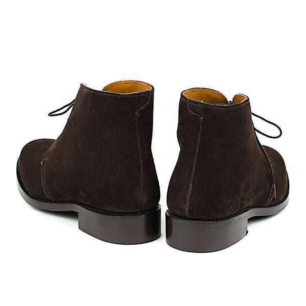 スウェード チャッカブーツ 革靴 SUEDE CHUKKA BOOT LEATHER グッドイヤーウェルト製法 D.BROWN|london-game|04