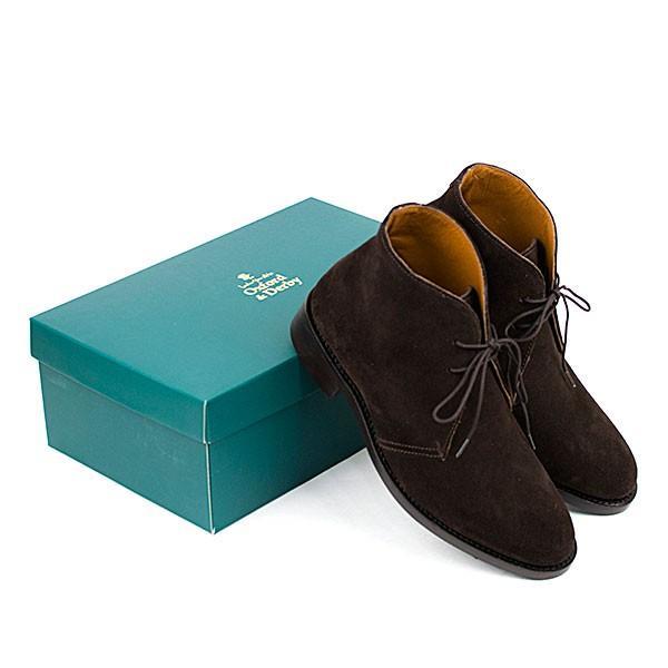 スウェード チャッカブーツ 革靴 SUEDE CHUKKA BOOT LEATHER グッドイヤーウェルト製法 D.BROWN|london-game|06
