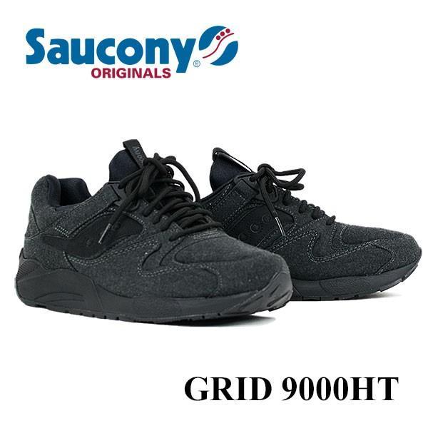 サッカニー Saucony GRID 9000HT ランニングシューズ BLACK london-game 03