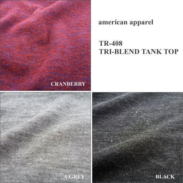 American Apparel アメリカンアパレル トライブレンド タンクトップ TANK TOP|london-game|05