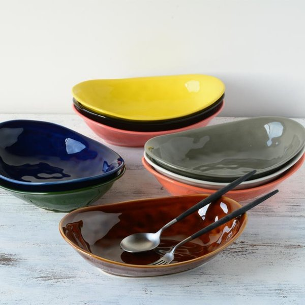食器 和食器 パスタ カレー サラダ  おしゃれ お皿 皿 食器 プレート 陶器 美濃焼 可愛い 日本製 カレー皿&パスタ皿 24cm (全9色)|long-greenlabel|12