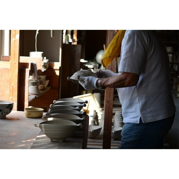 食器 和食器 パスタ カレー サラダ  おしゃれ お皿 皿 食器 プレート 陶器 美濃焼 可愛い 日本製 カレー皿&パスタ皿 24cm (全9色)|long-greenlabel|16