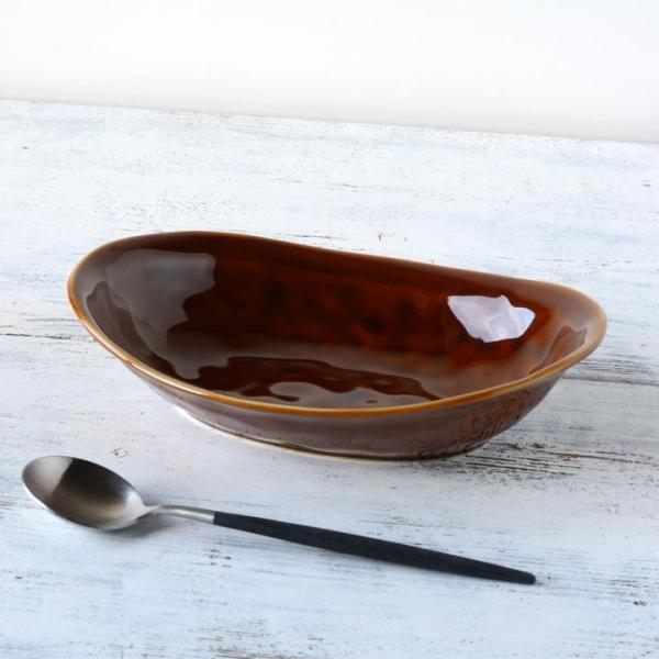 食器 和食器 パスタ カレー サラダ  おしゃれ お皿 皿 食器 プレート 陶器 美濃焼 可愛い 日本製 カレー皿&パスタ皿 24cm (全9色)|long-greenlabel|05