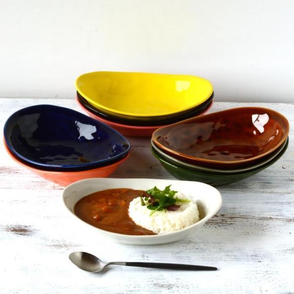 食器 和食器 パスタ カレー サラダ  おしゃれ お皿 皿 食器 プレート 陶器 美濃焼 可愛い 日本製 カレー皿&パスタ皿 24cm (ネイビー)|long-greenlabel|05