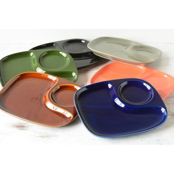 二つ仕切り ランチプレート 23cm 全9color  取り皿 おしゃれ お皿 皿 食器 プレート オシャレ 陶器 美濃焼き 可愛い 北欧 日本製|long-greenlabel|13