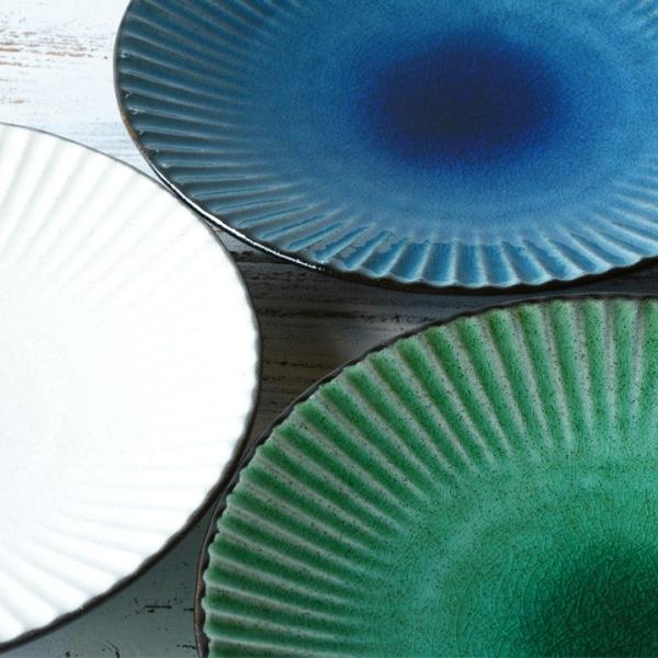 パスタ皿  カレー皿 サラダ皿 おしゃれ しのぎ お皿 和食器 プレート パン皿 しのぎ彫り 丸盛皿 3color 日本製 おうちごはん|long-greenlabel|09