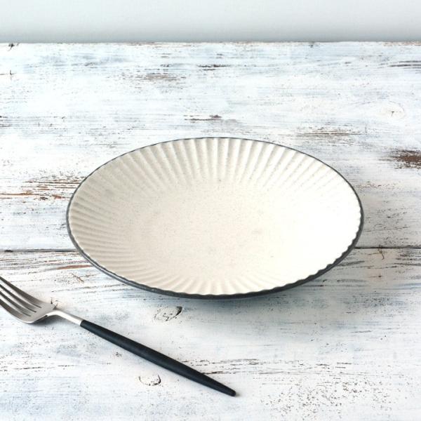 パスタ皿  カレー皿 サラダ皿 おしゃれ しのぎ お皿 和食器 プレート パン皿 しのぎ彫り 丸盛皿 3color 日本製 おうちごはん|long-greenlabel|18