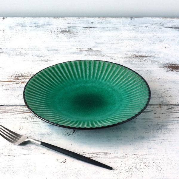 パスタ皿  カレー皿 サラダ皿 おしゃれ しのぎ お皿 和食器 プレート パン皿 しのぎ彫り 丸盛皿 3color 日本製 おうちごはん|long-greenlabel|20