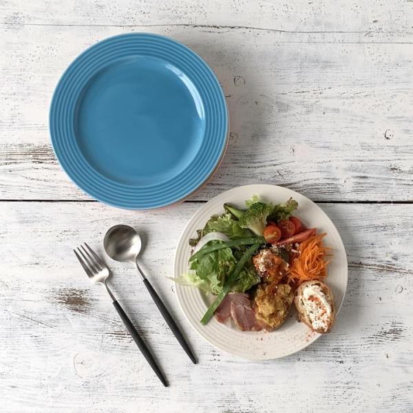 【在庫限り】 アウトレットセール 大皿 お皿 ディナー皿 パスタ皿 シンプル おしゃれ カフェ食器 日本製 美濃焼 5color プレート 23cm おうちごはん|long-greenlabel|11